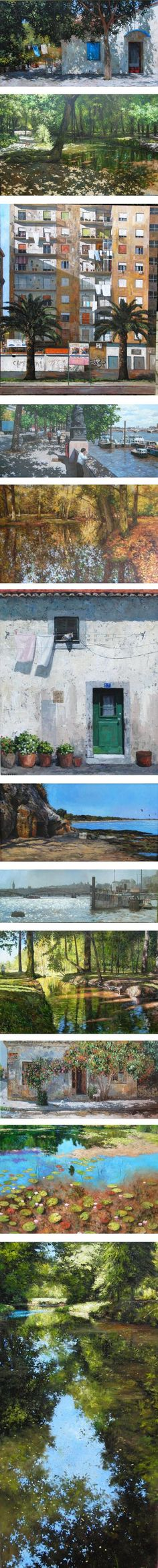 Ian Hargreaves, landscapes, cityscapes