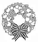 Festive Wreath Rubber Craft Stamp - Stamps Direct http://www.stampsdirect.co.uk/festive-wreath-rubber-stamp-682-p.asp