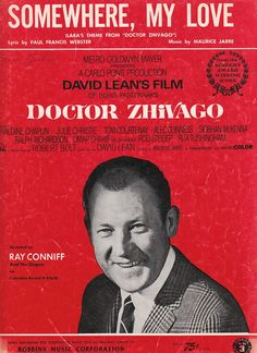 Somewhere, My Love 1966 Sheet Music Lara's Theme from Doctor Zhivago Ray Conniff