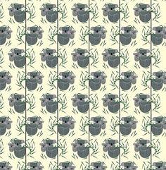 FairyTailors Stoffen - Birch Charley Harper Nurture Panda - BIO Tricot met GOTS label