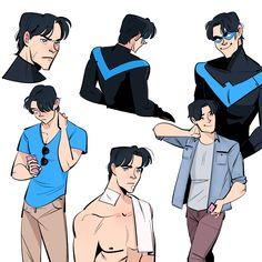 batman doesn't do ships Nightwing, Batgirl, Teen Titans, Dick Grayson Batman, Supergirl, Richard Grayson, Bat Boys, Univers Dc, Batman Robin