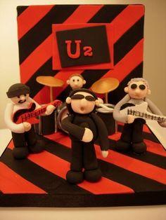 U2 Cake Papa Verjaardag, Verjaardagstaart, Geweldige Taarten, Muziek Taarten, Zangers, Afbeeldingen, Gebak, Muziek
