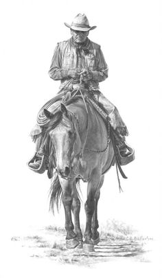 """The Cowboy Way"" Artist: Carrie Ballantye: graphite"