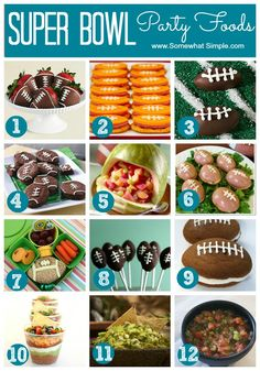 Superbowl party foods ...lots of yummy ideas!