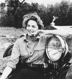 "Ingrid Bergman - ""The Yellow Rolls-Royce"". Isabella Rossellini, Zooey Deschanel, Vintage Hollywood, Classic Hollywood, Timeless Beauty, Classic Beauty, Swedish Actresses, Cinema, Films"