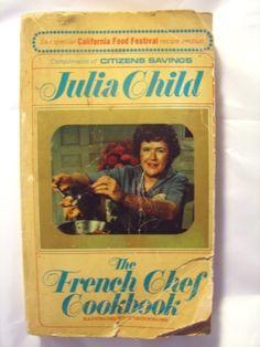 Vintage Julia Child cookbook.