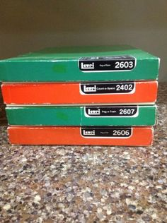 Rare-Vintage-Lauri-1979-Lot-Peg-A-Car-Train-Plane-Count-Space-Foam-Original-Box
