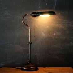Faries desk lamp. Industrial lighting.