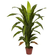 Nearly Natural Real Touch 4 ft. Green Dracaena Silk Plant 6650 - The Home Depot - Nearly Natural Real Touch 4 ft. Green Dracaena Silk Plant 6650 – The Home Depot Small Artificial Plants, Artificial Plant Wall, Fake Plants, Artificial Flowers, Plants Indoor, Potted Plants, Indoor Succulents, Artificial Tree, Ikebana