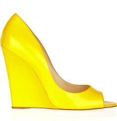 yellow jimmy choo wedge