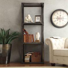 SIGNAL HILLS Sedgwick Vintage Industrial Modern Bracket Metal 26-inch Bookcase | Overstock.com Shopping - The Best Deals on Media/Bookshelves