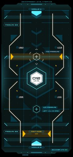 A personal Interface work. The idea was to create an abstract sci-fi style control unit in along with a touch screen interface. Game Ui Design, Logo Design, Graphic Design, Sci Fi Games, City Layout, Diy Screen Printing, Metal Screen, Control Unit, Screened In Porch