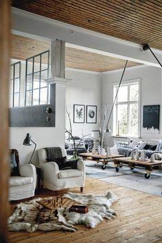 deco nordique moderne dans le salon avec ambiance scandinave