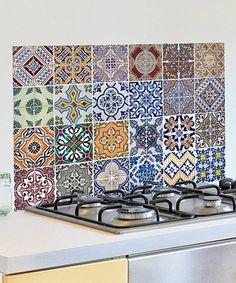 Cozinhas pequenas e coloridas ladrilhos hidr ulico e - Azulejos levante ...