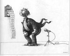 Музыка(автор карикатур Claude Serre)