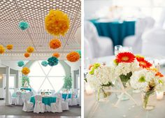Center pieces   New Jersey Wedding by Jenelle Kappe Photography | Wedding Ideas and Inspiration Blog