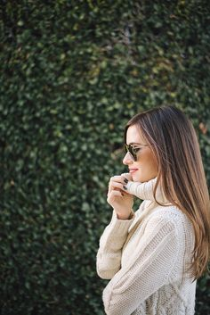 cream turtleneck sweater outfit inspiration M Loves M