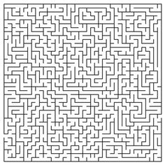 like this for a nine by nine square emboridered for kanga texture quilt. not to childish might be fun for him when he grows up and relizes its a maze. Maze Puzzles, Word Puzzles, Hard Mazes, Brain Games For Adults, Mazes For Kids Printable, Dots And Boxes, Word Ladders, Marble Maze, Maze Game