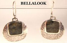 HTF!! SILPADA STERLING SILVER HAMMERED WITH TIGER'S EYE INLAY DROP EARRINGS RARE #SILPADA