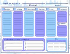 Home Management Filing System templates