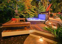 Image result for sloped backyard deck ideas