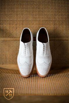 Spiaggia in White Nubuck - Wingtip Lace-up Oxford Men's Casual Shoes by Allen Edmonds, $260 #allenedmonds