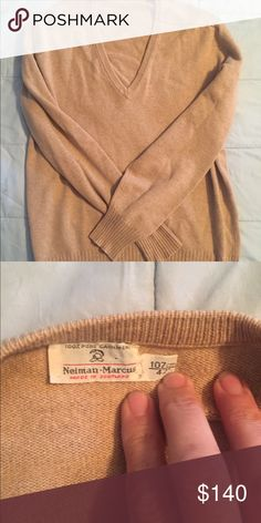 """Cashmere relaxed sweater V neck 42"""" 100% pure cashmere. 22"""" chest, 25"""" length, 24.5"""" sleeves. Made in Scotland. Could be for man or women. See measurements nieman marcus Other"""