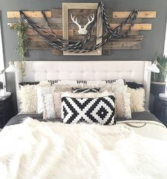 Rustic Boho Chic Master Bedroom Bedroom Ideas Home Bedroom Chic Chic Master Bedroom, Bedroom Black, Cozy Bedroom, Bedroom Decor, Woman Bedroom, Bedroom Ideas, White Rustic Bedroom, Shabby Bedroom, Rustic Bedrooms