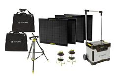 Goal Zero Yeti Portable Solar Generator Kit for Emergency and Survival Energy Requirements