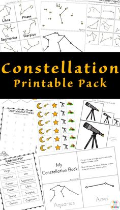 Free Educational Constellation Printable Pack that teaches astrological star shapes, sizes, fine motor skills, and more educational constellation gradeschool homeschool free resource 114912227981686244 Planets Activities, Educational Activities For Toddlers, Space Activities For Kids, Space Preschool, Dementia Activities, Educational Websites, Educational Toys, Outdoor Activities, Constellation Activities