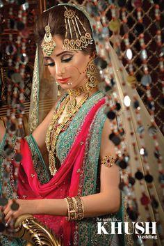 Credits: khush magazine. Makeup by Sahida Sardar (Zara's bridal studio)