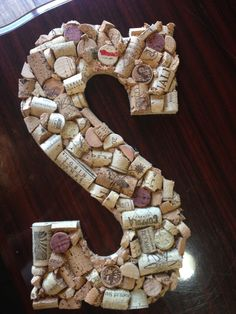 Wine Cork Letter by gigglinggrapes on Etsy, $18.00