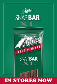 The new Andes Snap Bar XL contains 12 pieces of the classic Crème de Menthe all in one bar. In stores now! 90s Retro Clothing, Charleston Chew, Caramel Apple Pops, Junior Mints, Grunge Clothes, Chocolate Covered Cherries, Funny Ideas, Plaid Pants, Dollar Stores