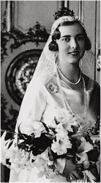 Verena's Royal Wedding Site:  Princess Ingrid of Sweden on her wedding day, 1935