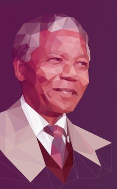 Low poly is the hottest trend these days and everyone talking about model style illustrations. What is Low-poly? Its a polygon mesh of a small number of Nelson Mandela, Portraits Pastel, Web Design, Vector Design, Creative Design, Polygon Art, Vector Portrait, Portrait Illustration, Low Poly
