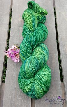 Sadie Sock HT 100g, Hand dyed yarn, Superwash merino wool, Single ply, 400 yds: Rainforest. by Lambstrings on Etsy