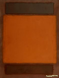 Orange, Brown, 1963 Artwork by Mark Rothko Hand-painted and Art Prints on canvas for sale,you can custom the size and frame