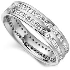 Who Can Resist? A Stunning Double Channel Set Carre Cut Diamond Eternity ring.