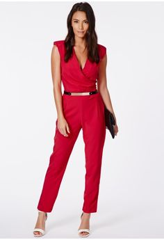 Jerma Crossover Tailored Jumpsuit - Jumpsuits and Playsuits - Jumpsuits - Missguided