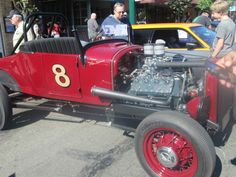 Old red racecar