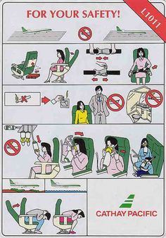 Cathay Pacific Lockheed l1011 super tristar airline safety card