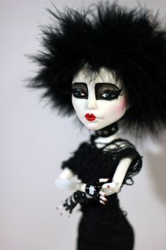 Siouxsie Sioux Monster High OOAK Gothic Custom Doll Repaint by Refabricationsll