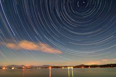 500px / Lake Ossipee Star Trails by Larry Landolfi