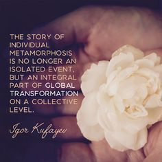"""The story of individual metamorphosis is no longer an isolated event, but an integral part of global transformation on a collective level."" #igorkufayev #vamadeva #transformation #meditation #collective #metamorphosis #awakening #kundalini #oneness"