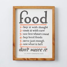 Holstee Poster - Food Rules