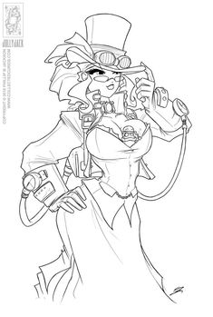 Steampunk Coloring Pages | helga colouring pages (page 2)