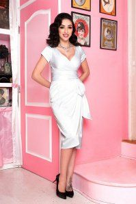 Pinup Couture Ava Dress in White 100 50 16017 1