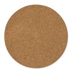 Plaques rondes de liège 30 cm Naturel x2
