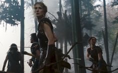 Andromeda (Rosamund Pike) and Korrina (Lily James) in Wrath of the Titans (2012)