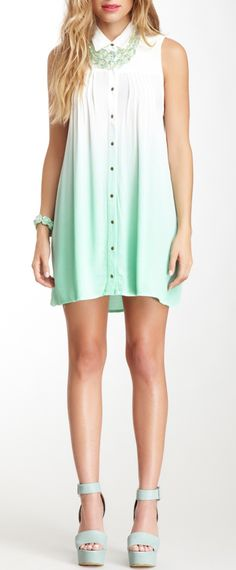 Ombre mint dress
